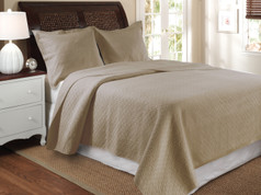 Vashon taupe twin quilt set from Greenland