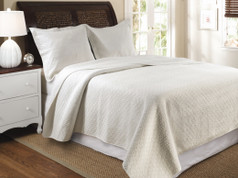 Vashon Ivory Quilt SET - Full/Queen