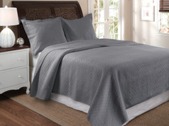 Vashon Grey Quilt SET King