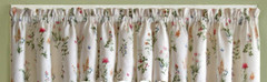English Garden kitchen curtain valance