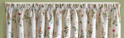 English Garden kitchen curtain valance