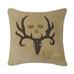 Bone Collector - Square Pillow - Tan