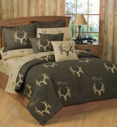 Bone Collector Queen Sheet Set - Brown