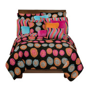Flower Fantasy Oblong Pillow - Orange