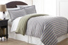 Micro Flannel - 2pc TWIN Comforter Set - Awning Stripe from Shavel