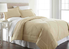 Micro Flannel - 3pc KING Comforter Set - Chino from Shavel
