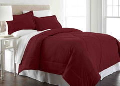 Micro Flannel - 2pc TWIN Comforter Set - Wine from Shavel