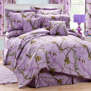 Realtree AP - 4pc Queen Comforter Set - Lavender
