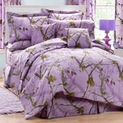 Realtree AP - 4pc Queen Comforter Set - Lavender