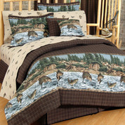 River Fishing - 4pc Queen Comforter Set