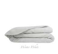 Ultra Velvet King Blanket - White
