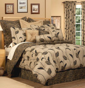 Yvette - 4 pc KING Comforter Set - Stone