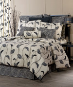 Yvette - Square Euro SHAM - Black - Eclipse