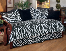 Black Zebra Square Throw Pillow