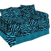Blue Zebra Square Pillow