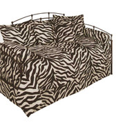 Brown Zebra Lined Curtain pair