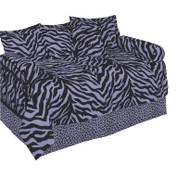 Lavender Zebra Square Pillow