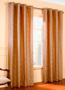 Anna Grommet Top Curtain pair - MUSHROOM