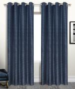 Brighton Foamback Grommet Top Curtain Panel - NAVY