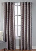 Broadway Grommet Top Curtain Panel - Chrome