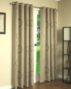 Brooke Blackout Grommet Top Curtain Panel - BEIGE