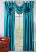 Chelsea Grommet Top Curtain Panel - Teal