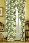 Christina Grommet Top Curtain - Green
