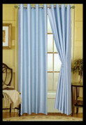 Elaine Grommet Top Curtain - Light_Blue