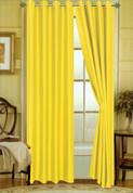 Elaine Grommet Top Curtain - Neon Yellow