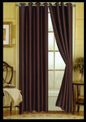 Elaine Grommet Top Curtain - Chocolate