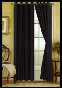 Elaine Grommet Top Curtain - Black