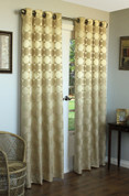 "Hologram Grommet Top Panel 84"" long - GOLD"