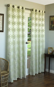 "Hologram Grommet Top Panel 84"" long - SAGE"