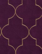 Hudson Embroidered Grommet Top Panel - Amethyst