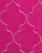 Hudson Embroidered Grommet Top Panel - Fucshia