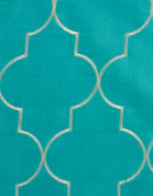 Hudson Embroidered Grommet Top Panel - Turquoise