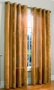 Josephina Faux-Silk Grommet Top Curtain Panel - TAUPE