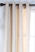 Kelly Grommet Top Curtain Panel - IVORY