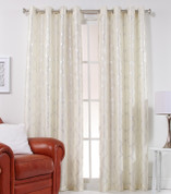 Lafayette Grommet Top Curtain Panel  - Frost