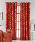Lafayette Grommet Top Curtain Panel  - Rust