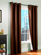 Prelude Grommet Top Curtain Panel  - BROWN