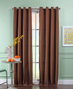 Reed Grommet Top Curtain Panel  - ESPRESSO