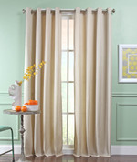 Reed Grommet Top Curtain Panel  - IVORY