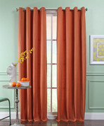 Reed Grommet Top Curtain Panel  - HARVEST