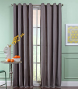 Reed Grommet Top Curtain Panel  - SLATE