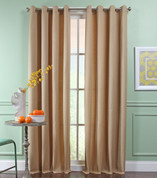 Reed Grommet Top Curtain Panel  - WHEAT