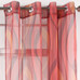 Retro Sheer Grommet Top Curtain Panel - Flame