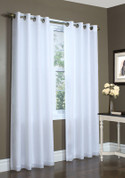 Rhapsody Lined Sheer Grommet Top Curtain - WHITE