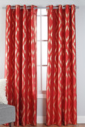 Stanton Grommet Top Curtain Panel  - Crimson