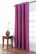Tribeca Faux Silk Grommet Top Panel - AMETHYST